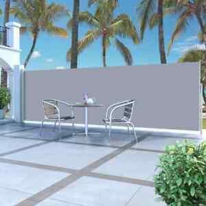 vidaXL Tenda da Sole Laterale Retrattile 160x500 cm Crema Parasole Antivento