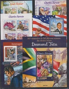 B903. 6 Difirent items - MNH - Famous People