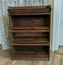 THE LEBUS BOOKCASE Antique Oak Barristers Stacking Cupboard Cabinet Bookcase