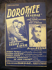 Partition Dorothée Festival Verlor et Davril Jacques Hélian 1951 Music Sheet
