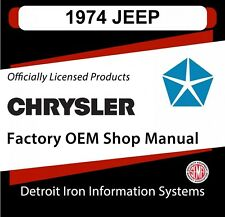 1974 jeep cj5 cj6 j10 j20 cherokee wagoneer shop manual and sales brochure  cd