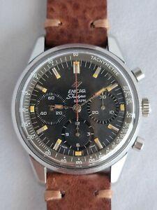Enicar Sherpa Graph Chronograph Vintage Valjoux 72 Jim Clark