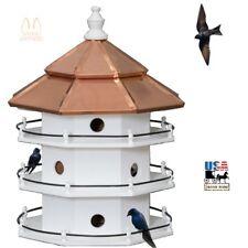 12 Room Purple Martin Birdhouse - Large 3 Story Copper Roof Bird House Amish Usa