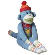"""xl taylor blue magnetic monkeez sock  36""""  boys and girls"""