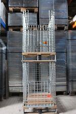 Gitter-Aufsatzrahmen Gitterbox Metallkorb Warenpräsentation + Palette 80x60x100