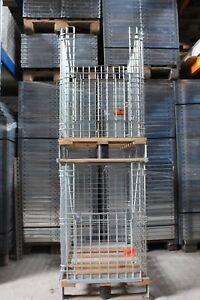 Gitter-Aufsatzrahmen Gitterbox Metallkorb Warenpräsentation mit Palette 80 x 60