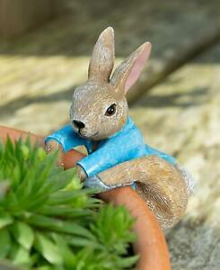 Pot Buddies Beatrix Potter Rabbit Figure Plant Pot Hanger Handmade Ornament