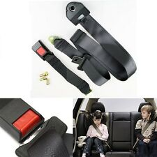 Black Car Auto Truck Van Seat Belt Lap Belt Three Point Safety Universal Fit NEW