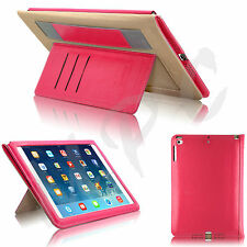 Slim Leather Smart Wallet Stand Strap Case Cover For iPad Air (iPad 5) &  Air 2