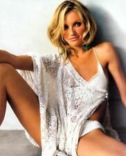 A Cameron Diaz Posing With White Lingerie 8x10 Picture Celebrity Print