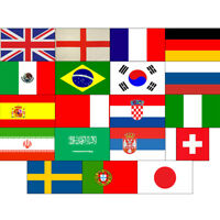 Large 5ft x 3ft World Cup 2018 International Football Country Flags 150cm x 90cm