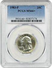 1983-P 25c PCGS MS66+ Lovely Toning - Washington Quarter - Lovely Toning