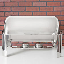 Roll Top Supreme Full Size 8 Qt Stainless Steel Buffet Chafter Chafing Set