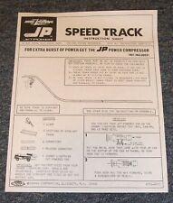 Topper Johnny Lightning Jet Power Speed Track Set  - Repro Instruction Sheet