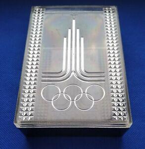 1980 Casket Box Emblem Logo XXII Olympic Games Moscow 80 USSR Vintage ☭