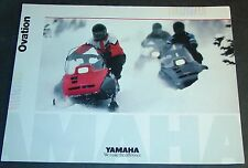 1990 YAMAHA OVATION SNOWMOBILE SALES BROCHURE 4 PAGES     (761)