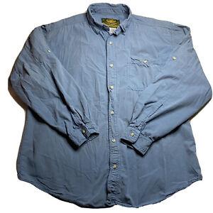 Gramicci Men's Cotton Blue Hiking Long Sleeve Button Shirt Sz Medium USA
