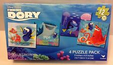Disney Pixar Finding Dory Nemo 4 Puzzle Pack Gift  Set 12 Piece NEW Free Ship