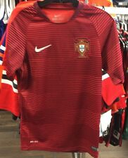 Team Portugal Federation Soccer Jersey SS Men Red Lines Stadium Home XXL Euro