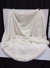 Pottery Barn Teen Sherpa Faux Fur Beanbag Chair SLIPCOVER Ivory LARGE NEW