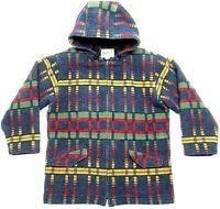 Vintage Woolrich Women's Size Medium Hooded Jacket Aztec Stripes full zip GUC