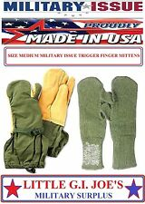 NEW Military Issue Arctic Trigger Finger Mittens With Wool Liners 4394 (MEDIUM)