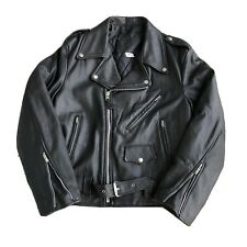 Branded Garments Size 44 Motorcycle Biker Rider Leather Jacket Genuine Vintage