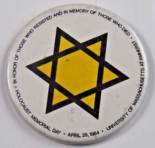 Holocaust Memorial Day In Memory of Those Who Died Pin Pinback Button 2 1/4""