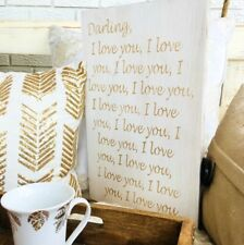 Darling I Love You, I Love You Art, Love Wood Sign, Wooden Home Decor, Valentine
