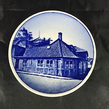 "Royal Copenhagen Mini Plate Delft Blue 3.25"" 16/2010 H.C. Andersen's Hus Odense"
