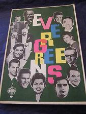 Partition Evergreens 26 morceaux Music Sheet