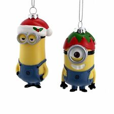 Christmas Minion Ornament Holiday Season Decoration Xmas Tree Hanging Decor 2 Pc