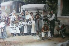More details for superb french card of large traveller/gypsy family at tziganes ,le dauphine