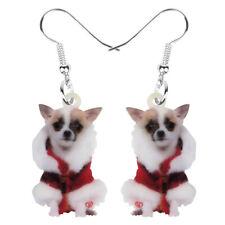 Acrylic Christmas Costume Chihuahua Dog Earrings Dangle Jewelry For Women Charms