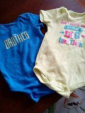 Short sleeved bodysuit 18 months lot of 2 big brother little brother