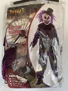 Spirit Halloween Big Top Terror Clown Child Costume Size XL 14-16 COMPLETE