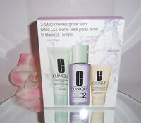 Clinique 3-Step Skin Care System Type 2 Dry Combination Skin 3pc Kit Soap Lotion