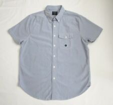 NWT Abercrombie Mens Short Sleeve Button Down Oxford Shirt Size XL Blue