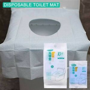 10PC Toilet Seat Covers Paper Travel Biodegradable Disposable Sanitary GOO