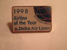 DELTA AIR LINES..1998 AIRLINE OF THE YEAR PIN...NEW