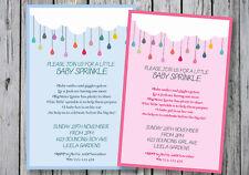 BABY SHOWER SPRINKLE Invitation GIRL / BOY Party Invite YOUPRINT Digital File
