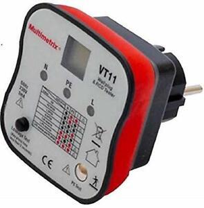Testeur de Prise Murale Electrique Différentiel 2P+Terre Multimetrix Arnoux VT1
