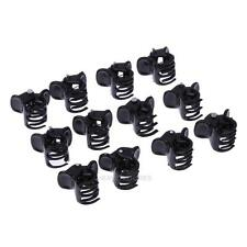 100pcs/bag Black Plastic Mini Hairpin Hair Claws Clip Clamp for Ladies 6 Claw