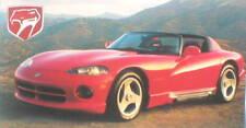 1996? Dodge VIPER vs Shelby AC COBRA Road Test Brochure
