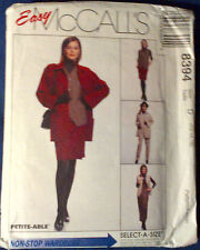 NEW + VINTAGE 1980'S MC CALLS SUIT SEWING PATTERN 8394 -SIZE 12,14,16