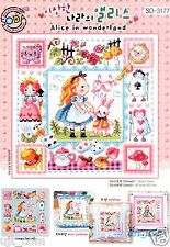 """""""Alice in Wonderland"""" Counted cross stitch chart.(pattern leaflet) SODA SO-3177"""
