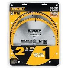DEWALT Series 20 12-Inch 80T Circular Saw Blade 2 Ct Pkg #DW3128P5D80I