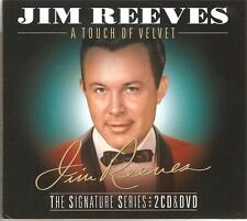 JIM REEVES A TOUCH OF VELVET - THE SIGNATURE SERIES 2 CDS & DVD