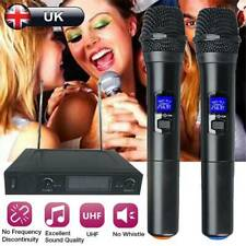 UHF Professional 2 CH Wireless Dual Handheld Microphone Mic System LCD Display