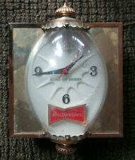 BUDWEISER~ KING OF BEERS-BUBBLE LIGHTED CLOCK BAR SIGN